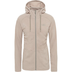 The North Face Mezzaluna Full-Zip Hoodie Women pink salt stripe
